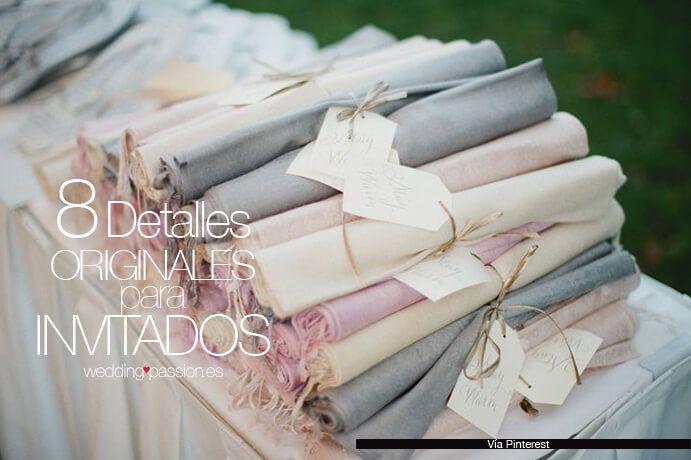 Detalles de boda. Muchas veces los novios no saben qué regalar a sus invitados el día de la boda, por eso os dejamos 8 detalles originales para invitados.