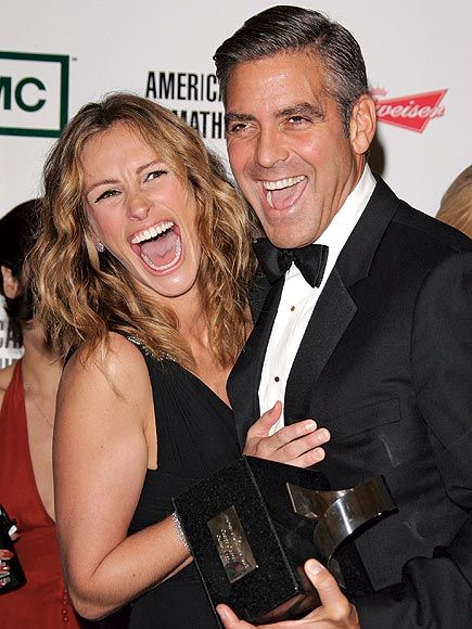 George Clooney and Julia Roberts full of laughter