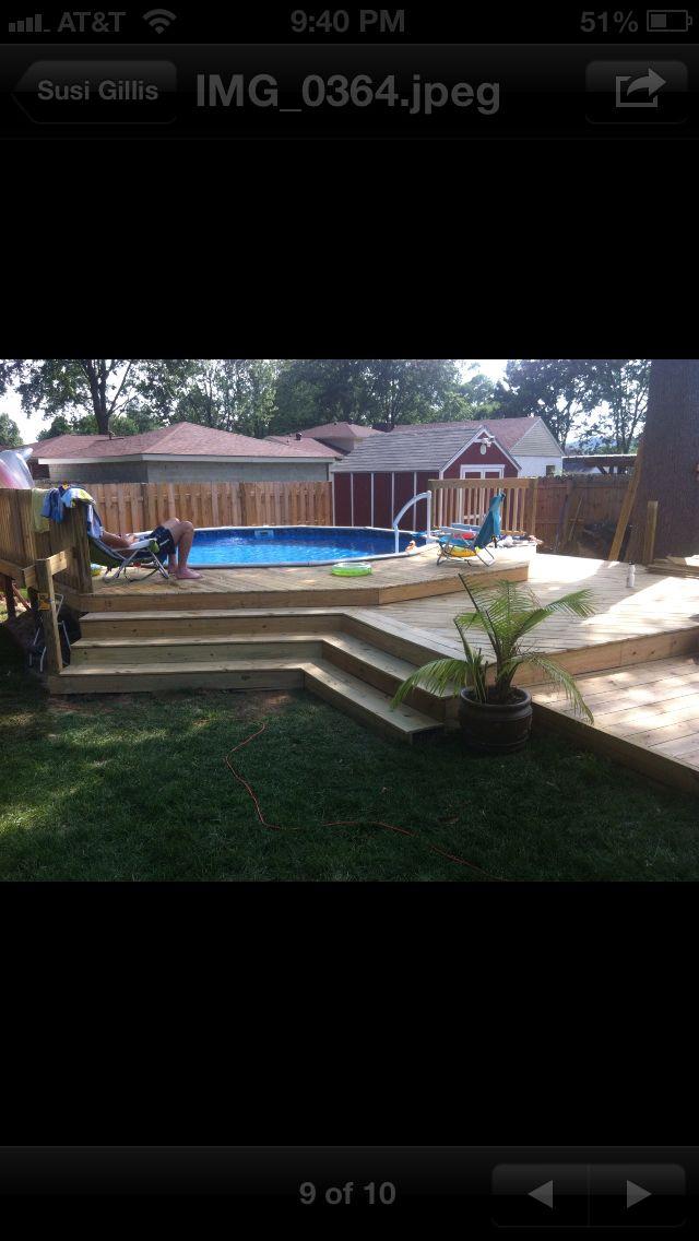 The Three Tier Deck I Built Around My Above Ground Pool
