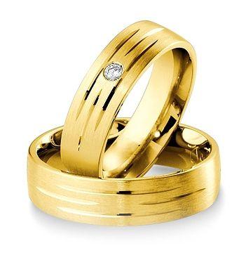 Breuning Trouwringen | Inspiration collectie gouden ringen | 6mm briljant 0.05ct verkrijgbaar in 8,14 en 18 karaat | 48041370 / 48041380 OOK in wit en geel goud verkrijgbaar #trouwringen