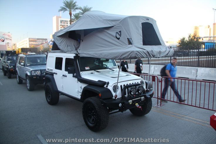 Tent camping in a Jeep at SEMA 2012 Cool Jeeps