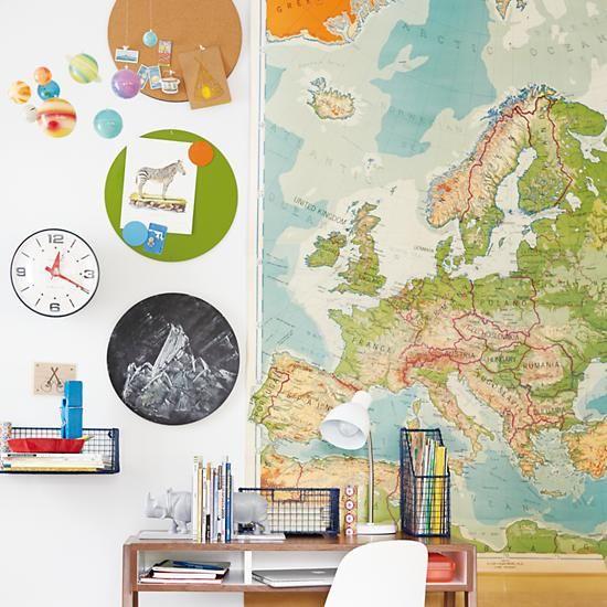 Kids' Bulletin Boards: Kids Green Metal Circle Magnet Board in Magnet Boards | The Land of Nod
