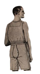 1920s Men's Underwear, Pajamas, Robes and Socks - Mens Union Underwear