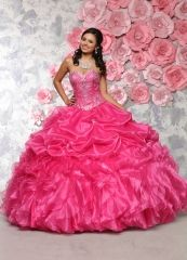 Wholesale hot pink quinceanera dresses 2016 new beaded ruffled organza sweet 15 ball gown 80303 http://www.topdesignbridal.net/wholesale-hot-pink-quinceanera-dresses-2016-new-beaded-ruffled-organza-sweet-15-ball-gown-80303_p4548.html