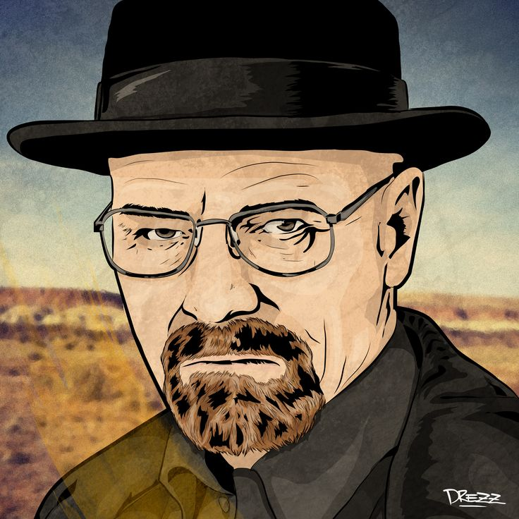 Walter White / Heisenberg (Breaking Bad)  - by Drezz Rodriguez, 2017.