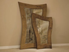 Plank Curvy Large and Small Mirror