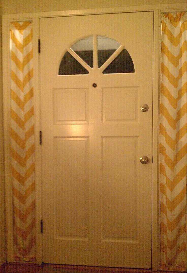 Yellow Chevron Curtains Side Light Windows Curtains For