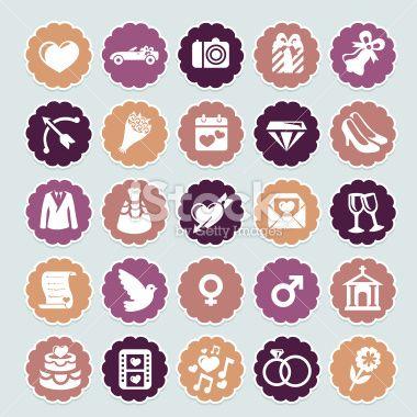 Mariage, Symbole, Souliers, Démodé, Retour du rétro Illustration vectorielle libre de droits