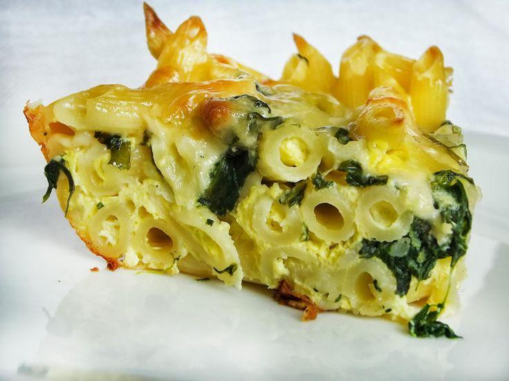 Pozytywne żywienie - dietetyka od przyjemnej strony: Zapiekanka z makaronem i szpinakiem