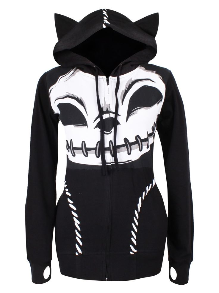 """CUPCAKE CULT """"Kitty Stitched Up"""" hoodie - size XL (SOLD)"""