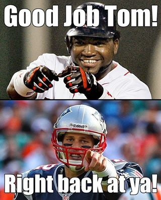 "From ""Big Papi"" David Ortiz of the Redsox to Tom Brady of the Patriots."