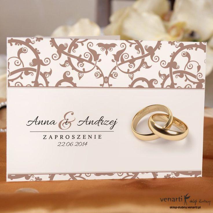 Zaproszenia ślubne ażurowe z obrączkami