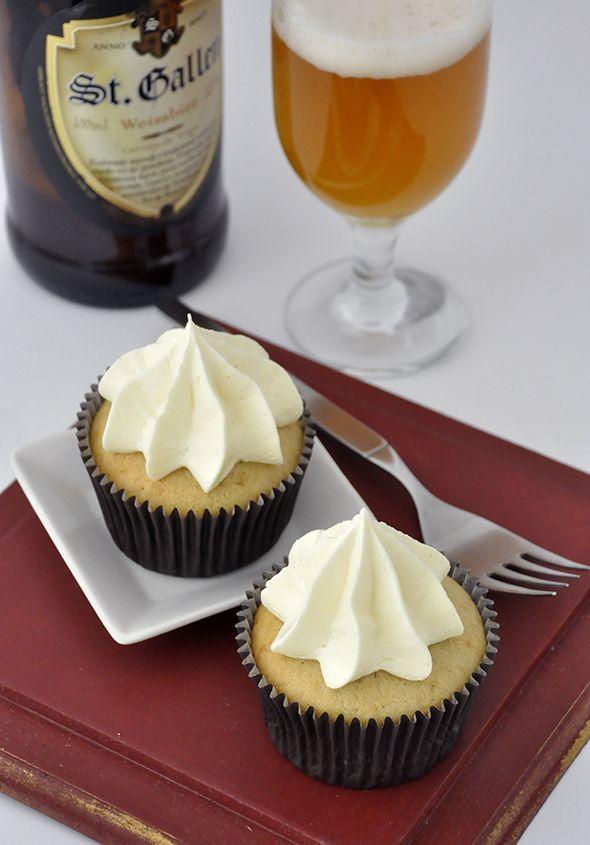 Cupcake de cerveja de trigo - cupcakeando