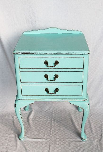 Find a bargain drawer chest and paint blue.
