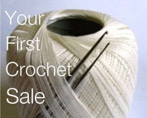 Your first crochet sale is defined as the one where you sell a hand-made crocheted item to someone you have never met.
