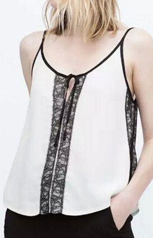 B&W Transparent Chiffon Camis
