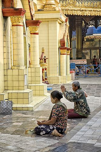 Scenes from Yangon, Myanmar (Burma) | A typical temple scene… | Flickr