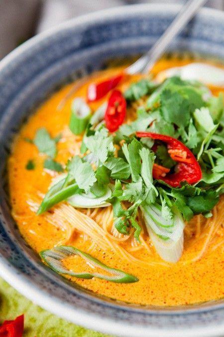 Nudelsuppe Thai Curry-Style – gegen Thaifood-Entzug