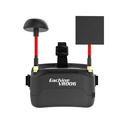 Eachine VR006 Mini Gafas FPV Auriculares VR-006 3 pulgadas 500  300 Pantalla 5.8G 40CH Construir en 3.7V 500mAh Batería para RC Racing Drone Quadcopters
