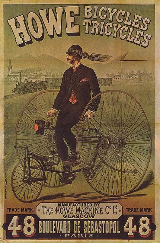 """Vintage How Bicycles advertisement ~ I was pinning items on my """"Blast From the Past"""" Pinterest board & I came across this ad. I don't remember this advertisement or product but it is a bad ass illustration! ~"""