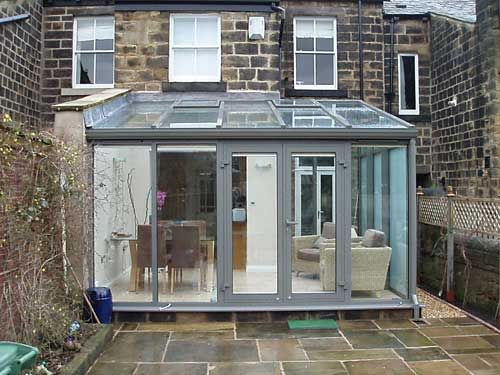 Victorian terrace with rear lean to conservatory bespoke for Garden room lean to