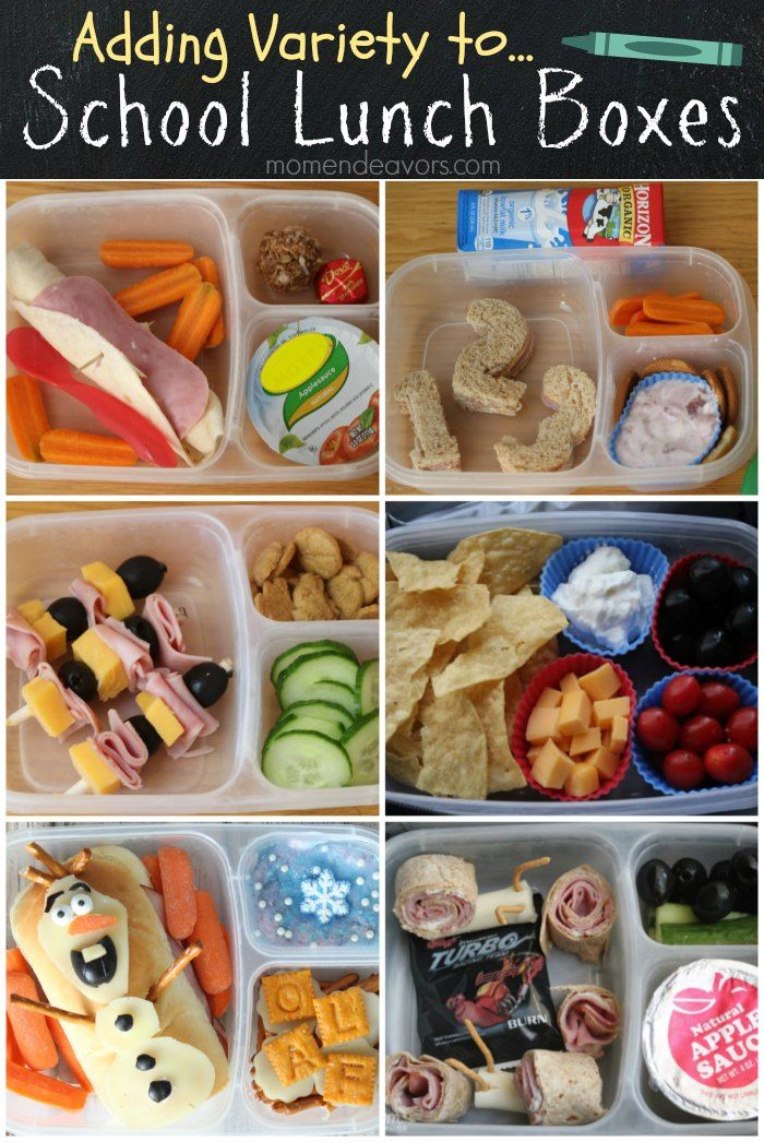 Great ideas for adding variety to school lunch boxes!