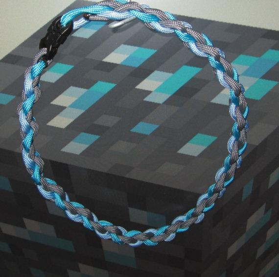 Minecraft Rare Diamond Ore Survival Cord Necklace by TheFlecks, $6.99