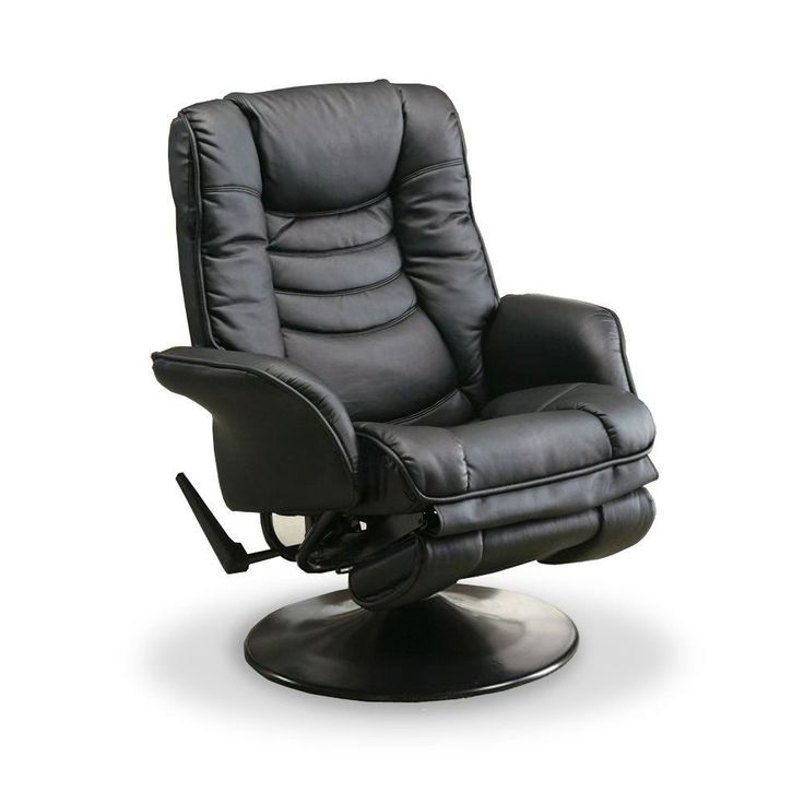 Black Swivel Chair Recliner Furniture Office Desk Home ...