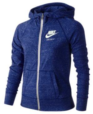 Nike Sportswear Gym Vintage Full-Zip Hoodie, Big Girls (7-16) -