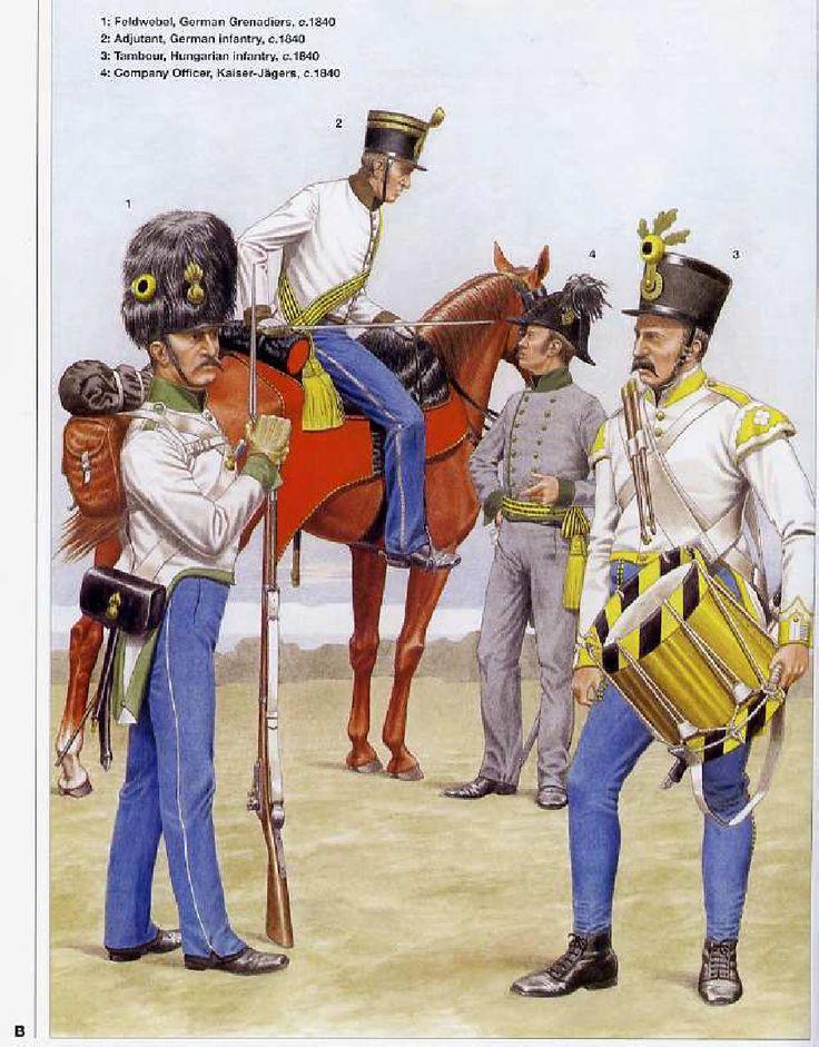 Infantry uniforms of the Austrian Empire 1836-1866
