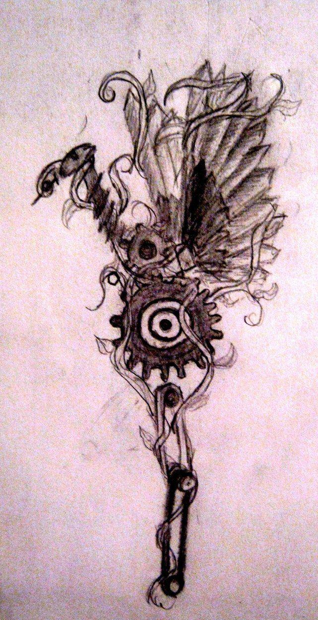 Lars krutak tatu lu tattoos from the dreamtime lars krutak - Mechanical_bird_by_polymath13 Jpg 641 1247
