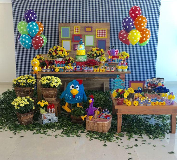 Encontrando Ideias: Festa Galinha Pintadinha!!