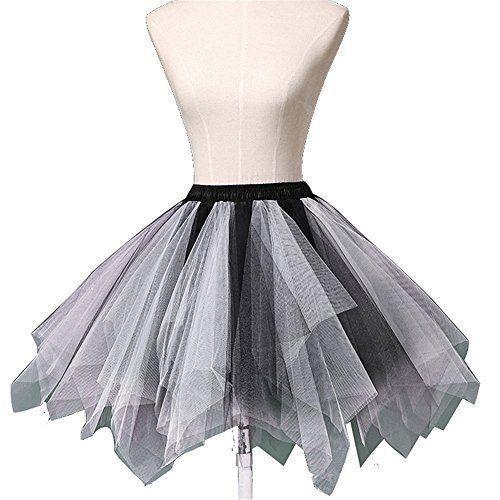 Women's Short Vintage Tulle Petticoat Skirt Ballet Bubble