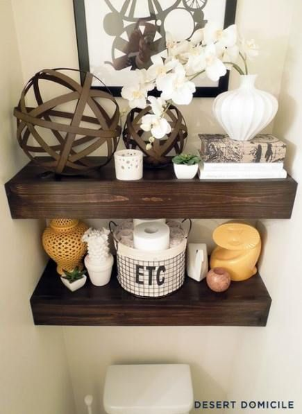 Diy bathroom shelf above toilet small spaces 37 ideas for 2019   – Hairstyles & Nails // DIY ♥