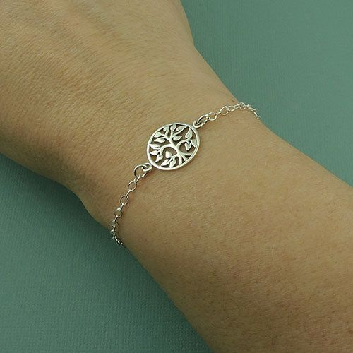 Silver Tree of Life Bracelet sterling silver tree by TheZenMuse, $26.00