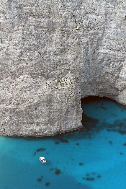Zakynthos, Greece, blue sea, rocks