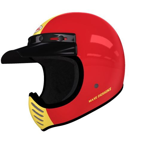 helmade Moto-3 Fifty Fifty Check this out! My very personal #helmade design on helmade.com :https://www.helmade.com/en/helmet-design-bell-moto-3-fifty-fifty-vintage-motorcross-helmet.html