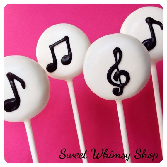 12 Music Note Cake Pops for band orchestra di SweetWhimsyShop
