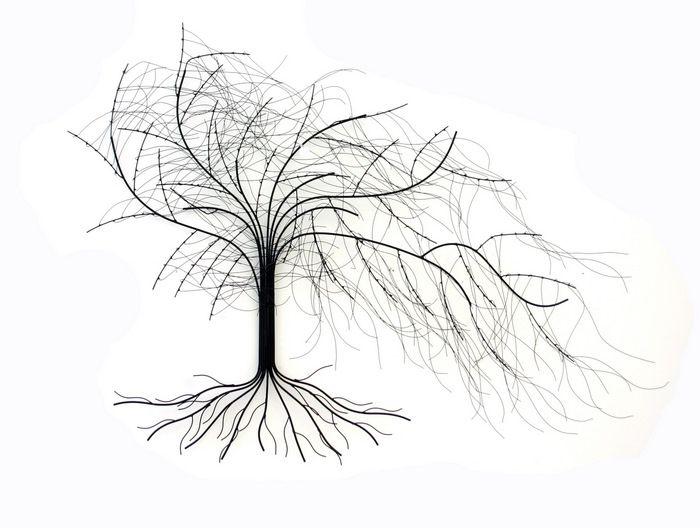 Metal Wall Art   Windy Oak Tree