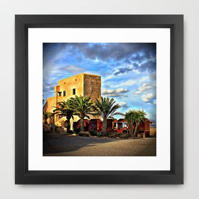 Spanish Market Framed Art Print by AngelEowyn - $34.00