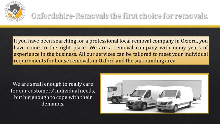 Oxfordshire-Removals the first choice for removals.