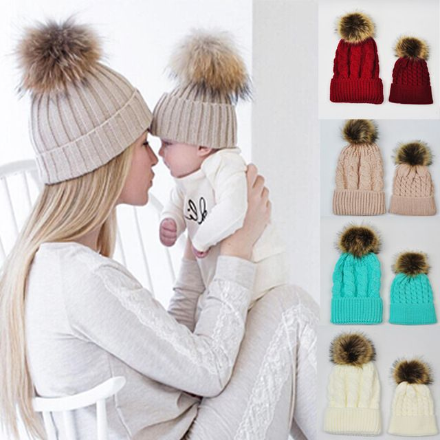 Special price Baby Knitted Wool Hat Caps for Girls Toddler Crochet Beanies Fur Ball Cute Baby Boys Hats Family Cap 2 Pcs Gorros Para Bebe just only $7.02 with free shipping worldwide  #babyboysclothing Plese click on picture to see our special price for you