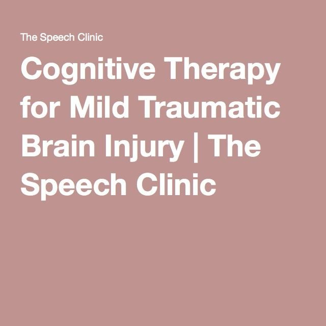 Cognitive Therapy for Mild Traumatic Brain Injury | The Speech Clinic