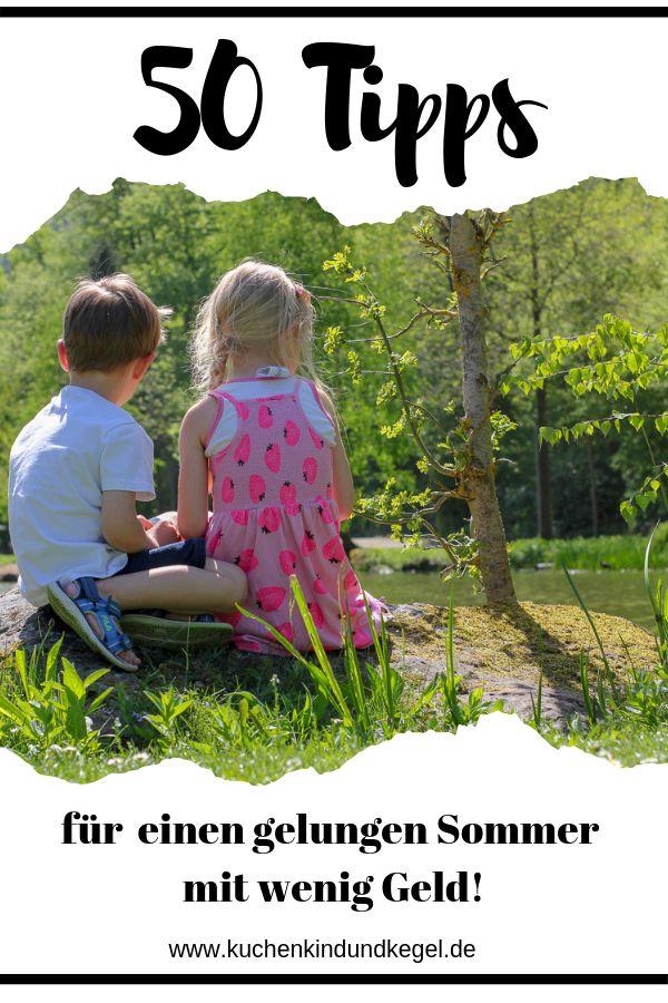 Die Kinder-Sommerferien stehen bevor. Was also tun? Hier findest du 50 Tipps und Beschäftigungsideen die größtenteils Kostenlos sind.