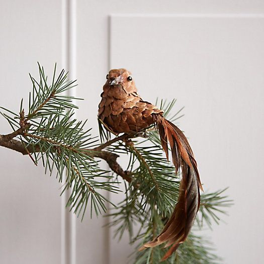 Pinecone Bird Ornament: