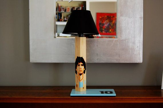 Maradona 10 handcrafted handpainted wooden table by QrtosCreations