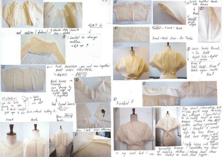 Making a toile - trial garment
