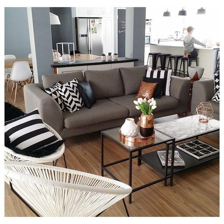 Living room with kmart chairs