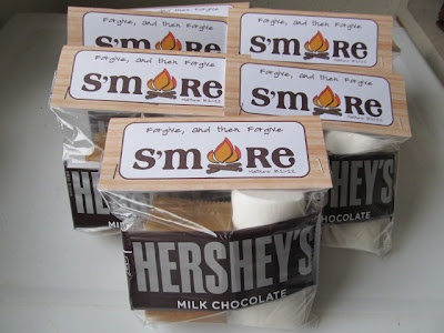 forgive and forgive s'more.   Could use the honey graham cereal, chocolate chips and mini marshmallows like a trail mix also.