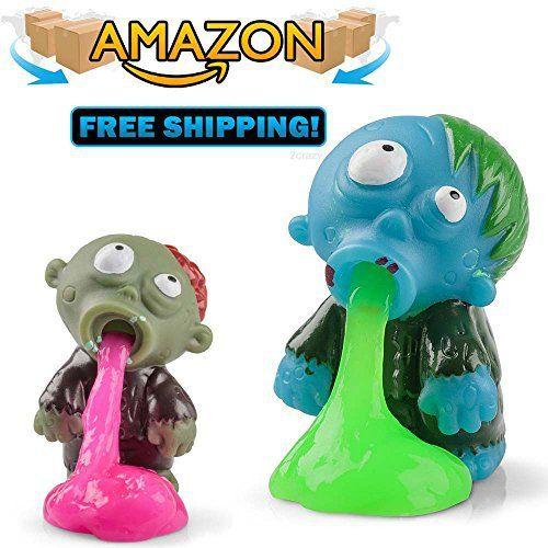 Slime Zombie, zombie gluant vomissant, bon appétit! zombie jouet, objet, figurine: Appuyez sur le zombie pour le faire vomir du slime! Pour…